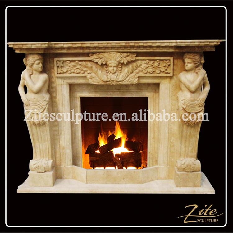 Hand Carved Factory Direct Sale water heating fireplace