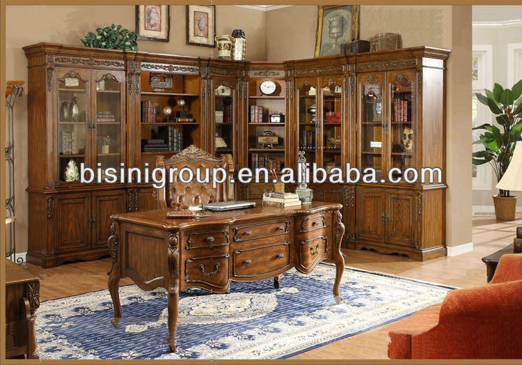 Wonderful High End American Style Office Desk Set;soild Wood Office Furniture,Antique  Home Office Furniture Set(bg0600102)   Buy Desk,Bookcase,Office Desk  Product On ...