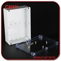 Electrical junction box with clear lid