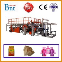 Full automatic film and fabric laminating machine for shoe material clothing