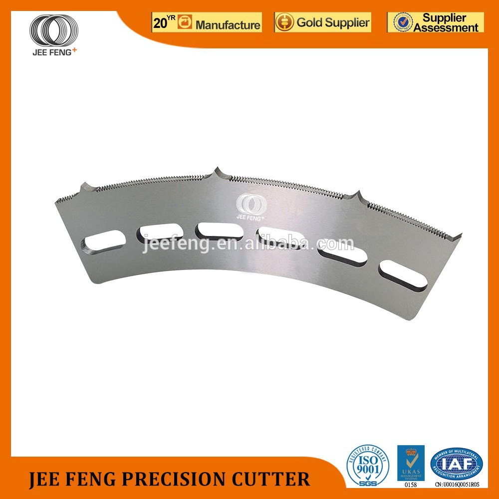 corrugated cardboard serrated blades for paper