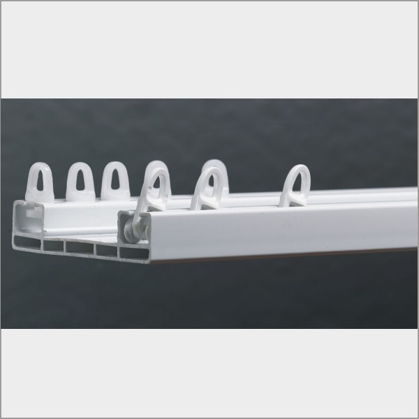2 layer curtains plastic double window pulley track,accessori plastic pole