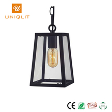 Hotel Wholesale Vintage Designer Black Cage E27 Glass Pendant Light Cord Ceiling Pendant Lighting Lamp