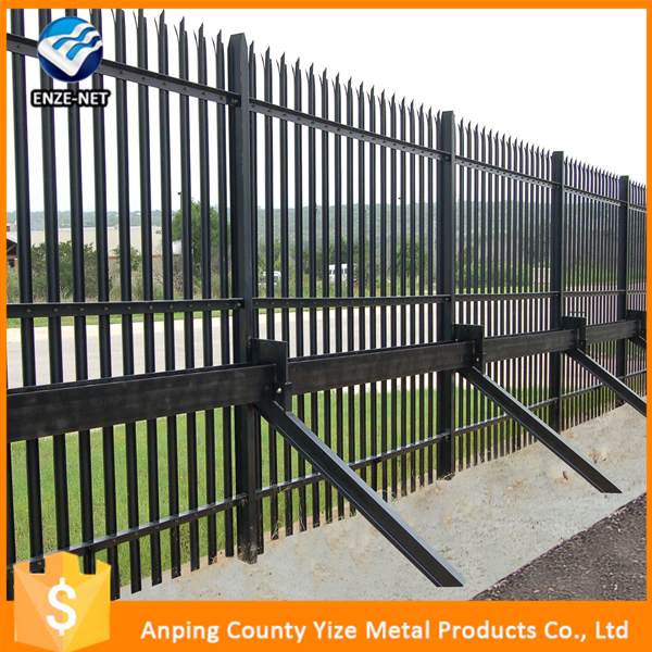 Cheap wrought iron fence panels for sale/Fence panels square tube/Galvanized steel pipe fence