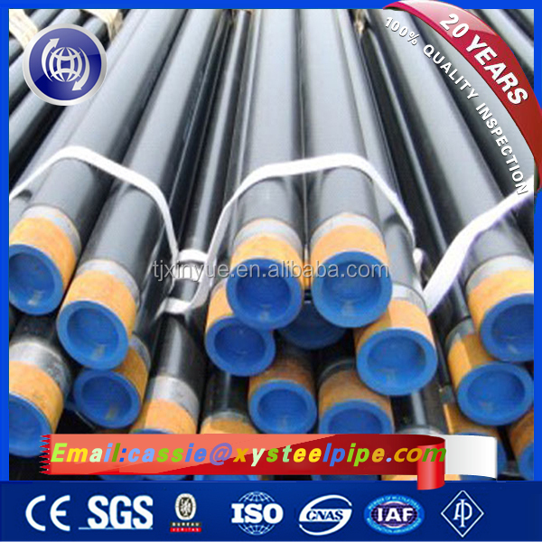 API 5L / ASTM A53 GR B Steel Tubo Galvanizado Oil Pipeline, ERW Galvanized Water Well Steel Pipes