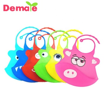 Colorful Animal Design Printing Silicone Baby Bibs