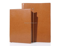 The latest flip consice men's PU leather office stationery of notebook