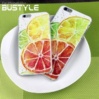 plastic phone cover ice lemon pattern protective case for iphone 5s or 6plus