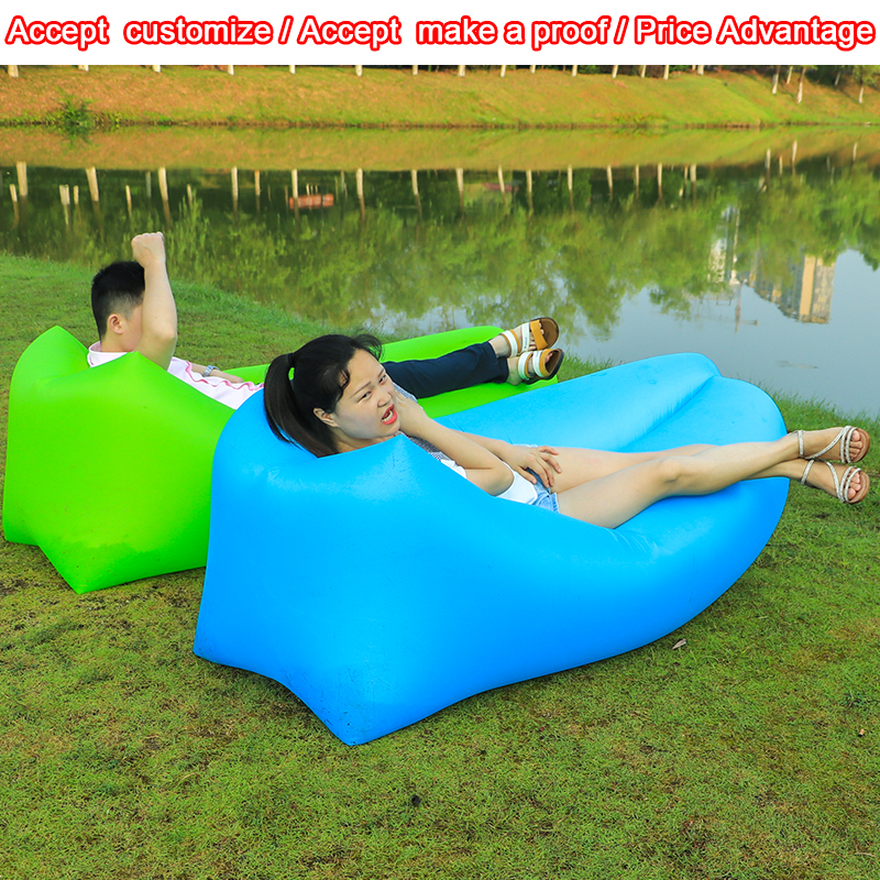 CE Approved Outdoor Convenient Inflatable Lounger air Sleeping Bag sofa