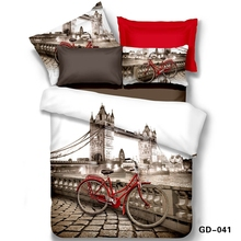 London on a Red Bike 3d Bedding Set