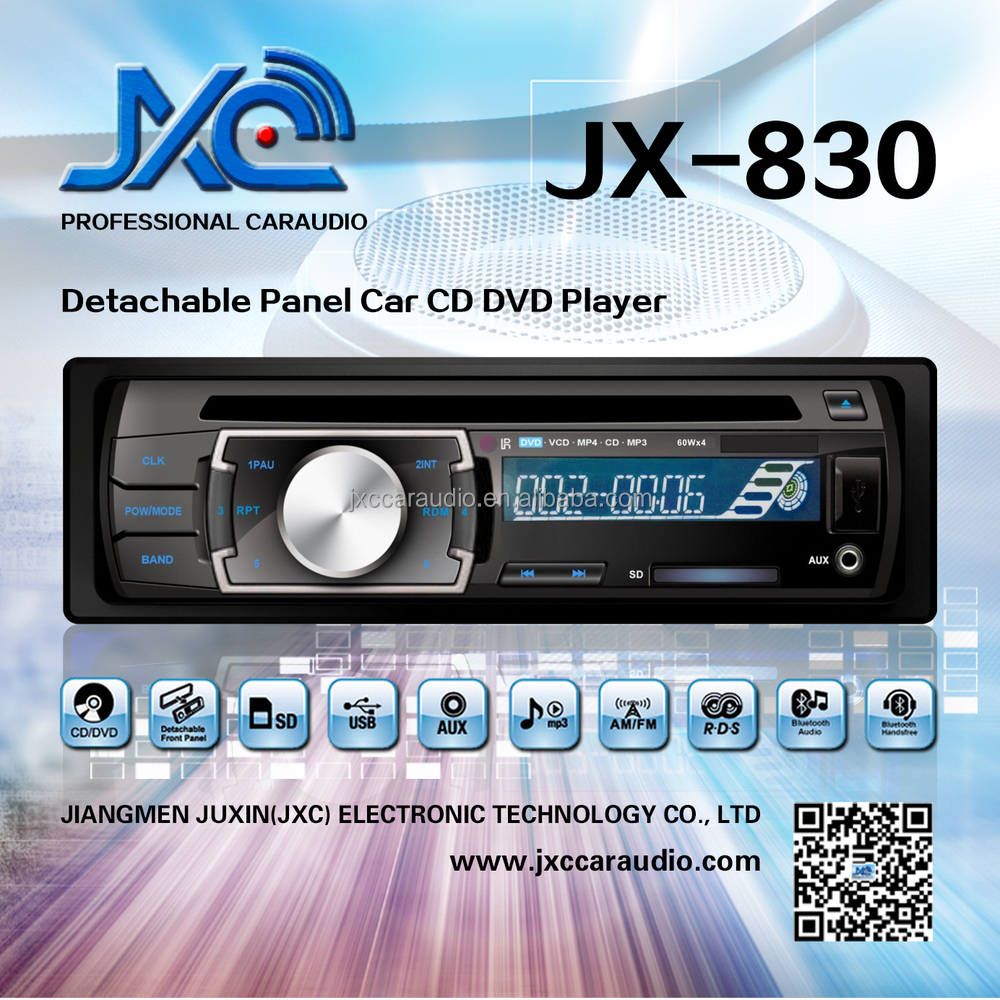 Sony Style Detechable panel car dvd for universal size JX-830