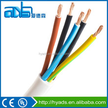 2016 copper conductor PVC coated and jacket electric wire