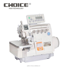 Computerized 4-thread Direct Drive Overlock Industrial Sewing Machine With Auto Electrical Trimmer GC6814/EUT/DD