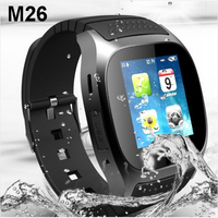 Wholesale Price M26 Bluetooth Smart Watch Music Player Pedometer Wristwatch Brand for iPhone 5s 6 6s Android Smartphone Watch