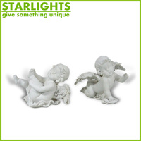 Custom resin garden angels Cherub bust statue