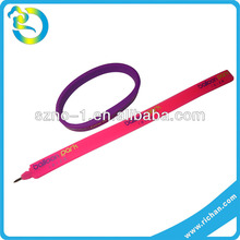 Wholesale custom colorful lovery shape soft silicone promotional fancy folding ballpoint pen