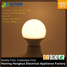 Light Energy Saving Lamp E27 9W Different Color Temperature Led Bulb