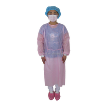 disposable pink isolation gown