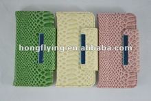 2012 hot, fashion , new arrival snakeskin grain PU leather case for iphone5