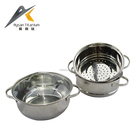 Best price 3 layers G - type glass lid wire handle stainless steel food steamer indian hot pot set for cooking