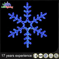 Buy 2D LED Christmas large Snowflake Decoration Commercial Hanging ...