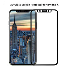 3D colorful anti explosion tempered glass screen protector film for iphone X 8 8plus