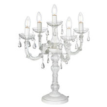 Marie Chandelier Style 5 Light Candelabra Crystal Table Lamp NS-121079