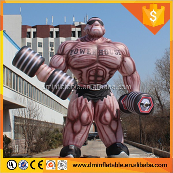 Attractive, giant cartoon inflatable advertisement price, inflatable muscle men