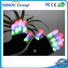 2015 led flash rave glove gloves with led lights