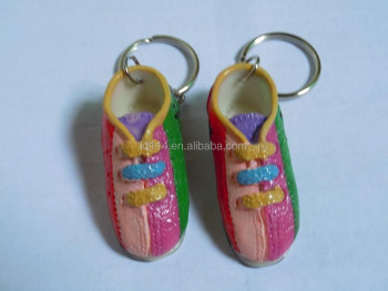 Cute Bowling Souvenir Bowling Shoes Keyring