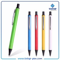 logo printed cheap click hotel advertising plastic pen