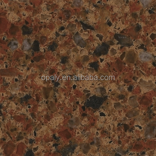 Hot Sale Popular Absolute Blown With Black Big Chips Quartz Slabs