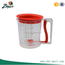 2017 New Prodcut 4-Cup Easy Release Fat/Gravy Separator, Red Grease separator