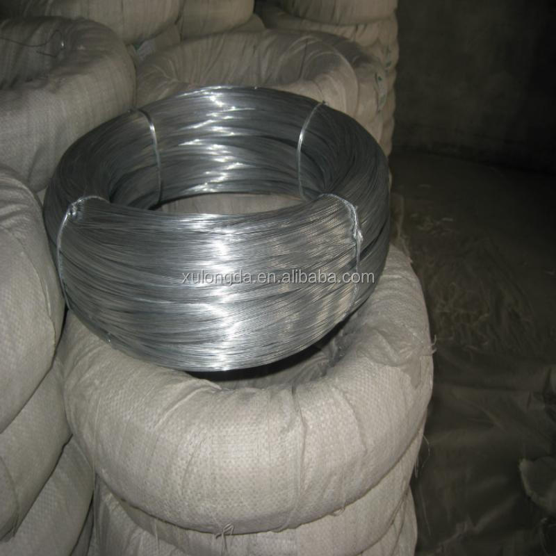 Galfan 5%Al-zinc coated redrawn <strong>steel</strong> wire for wire rope/spring/control cable