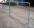 Galvanized flat feet mobile barrier/crowd control barricade