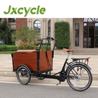 mother and kid tipper cargo tricycle