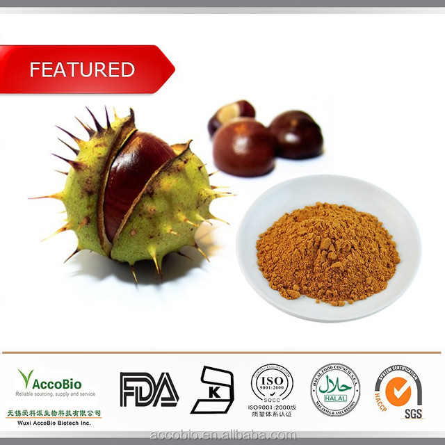 Traditional Chinese Herb Horse Chestnut Extract Powder, Horse Chestnut Extract Bulk
