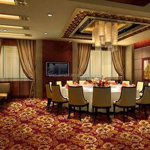 Modern Floral Printed Wall To Wall Banquet Hall Carpet