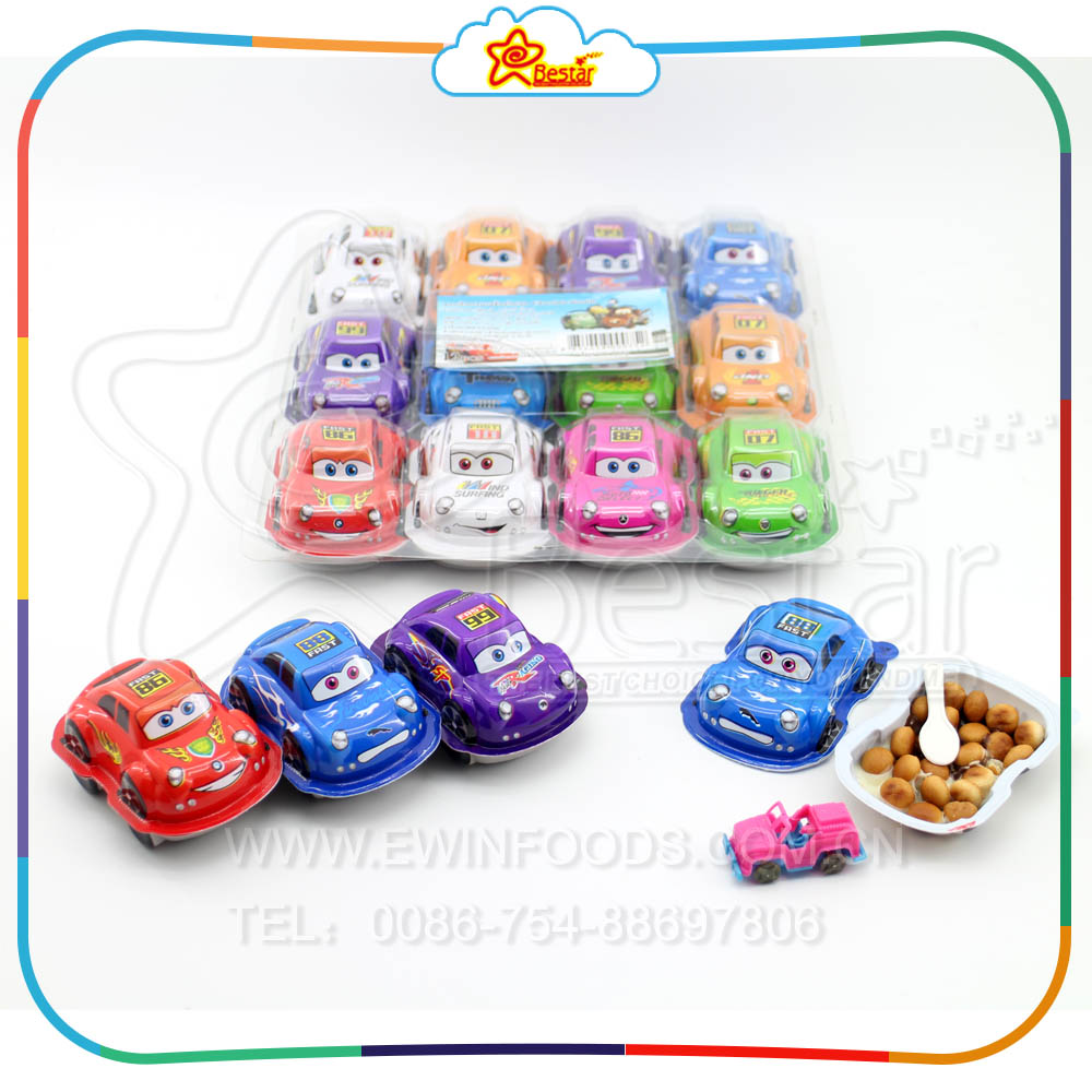 New Item 12g Car Shape Biscuit Chocolate Egg With Toy