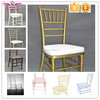 Qingdao Sinofur Wholesale cheap crystal plastic chiavari chair / Printed resin wedding tiffany chair for rental