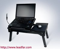 LY-NBT32c laptop table with cooling pad system and large high-performance