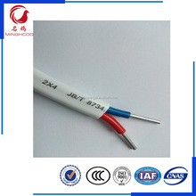 CCC BLVVB2*4mm 300/500V JB/T8734.2-2012 stander PVC insulated double core aluminum electric wire from china manufacturer