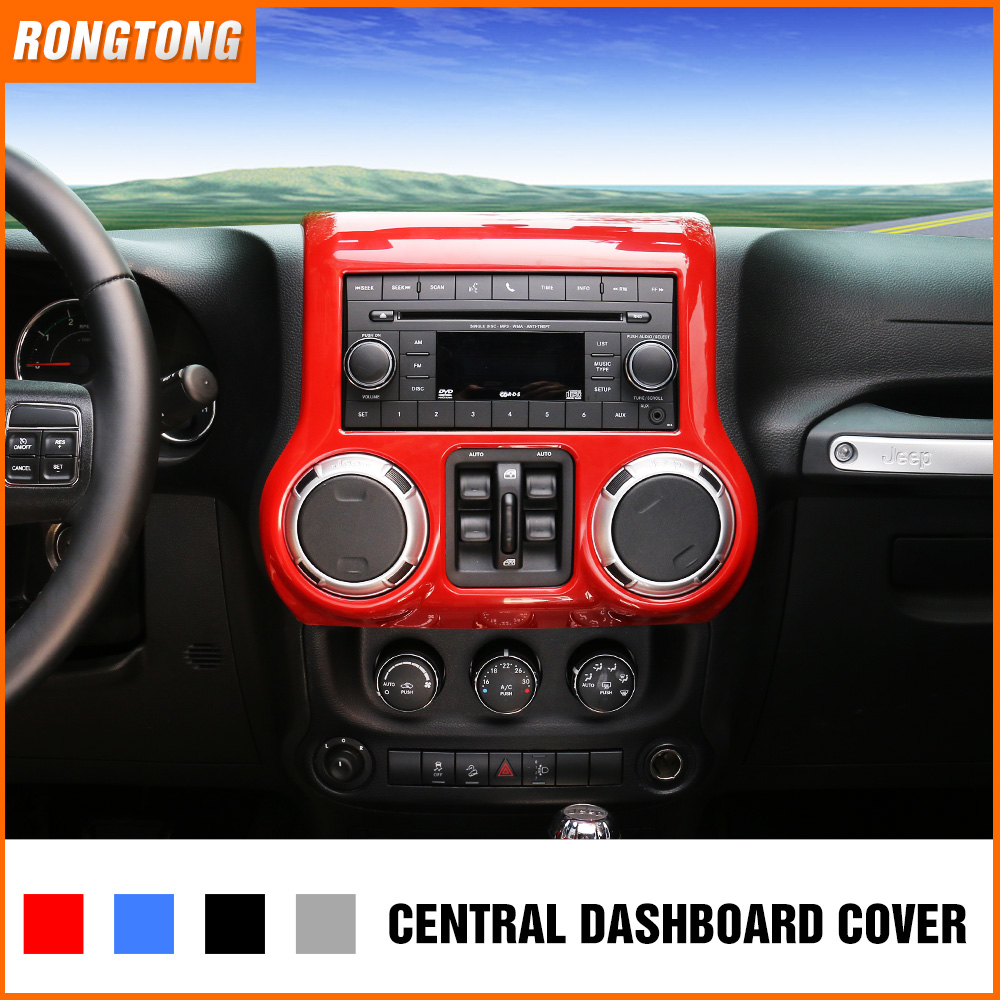High Quality ABS Central Dashboard Decoration Cover Frame For Jeep JK Wrangler