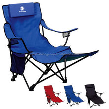 Outdoor folding chairs with footrest