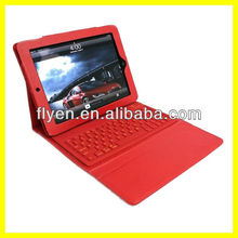 External Keyboard for Tablet Wireless Bluetooth for iPad Keyboard Case Leather Wholesale Good Price