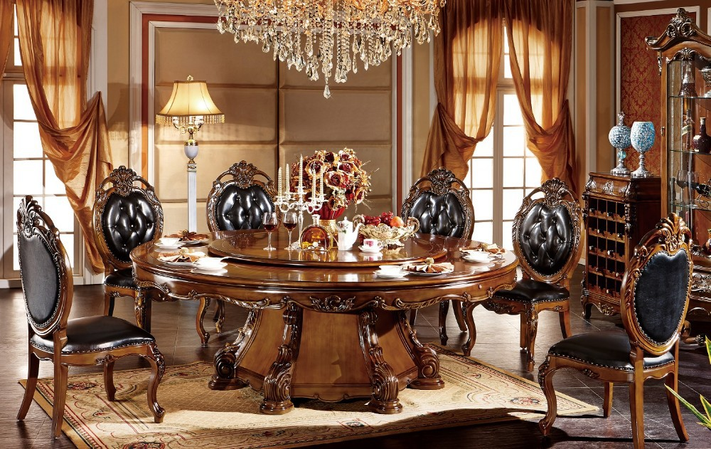 bisini luxury elegant hand carved wood dining room set buy dining