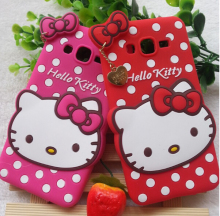 new arrival 3D cut hello kitty silicone case for samsung G530,for samsung G530 3D cut cartoon hello kitty silicone case
