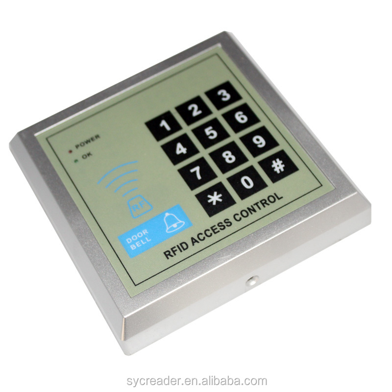 Cheap security RFID proximity entry door lock keypad smart IC/ID card door access control systems
