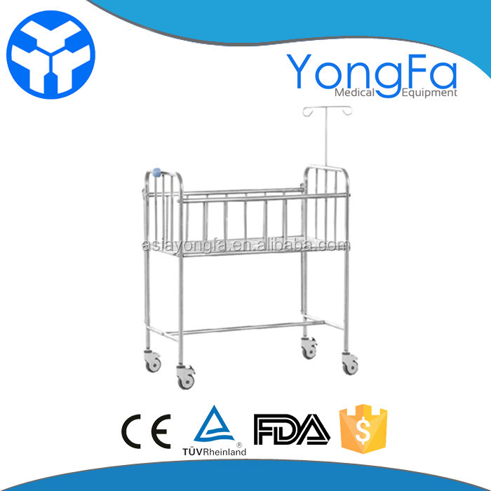 YFY045T Discount baby furniture iron children care bed with infusion stand