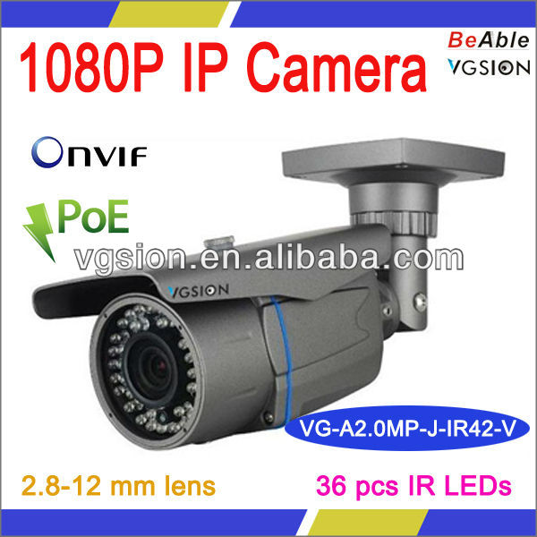 Intelligent Video Analysis 1080P Bullet Auto Face detection IP Camera